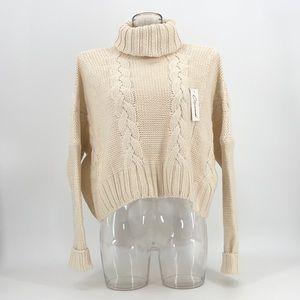 Cozy oversized chunky knit sweater.